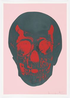 Candy Floss Pink Racing Green Pigment Red Pop Skull Damien Hirst Print- put this one in your collection.