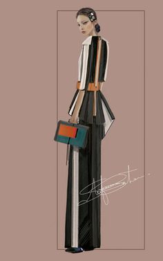 """Yuriko"" Sketch | Stefania Belmonte | my collection | Fashion Illustration"