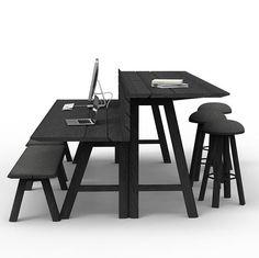 Custom picnic style bar desk for offices