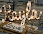 LARGE Old Vintage Style Marquee Letters Metal by JunkArtGypsyz