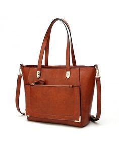 Women Top Handle Handbags Satchel Purse Tote Bag Shoulder Bag for Ladies Bags - Brown - CA186WQWY48  #Bags #Handbags #Totebags #gifts #Style