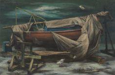 John Teyral, Drydock, 1948, Oil on canvas