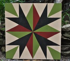 """New Barn Quilt Square for sale! """"Tennessee Compass"""" 2' x 2' hand painted Barn Quilt Square"""