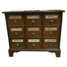 9 Drawer Antique Apothecary Chest