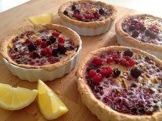 Lemon berry tart