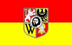 Flag of Wroclaw, Poland