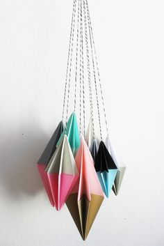 Origami Paper Art, Diy Origami, Paper Ornaments, Diy Photo, Best Part Of Me, Garland, Christmas Crafts, Blog, Decor Ideas