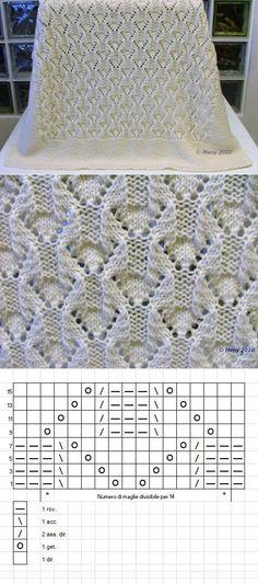 ru Quelle von Macareuxmoine – knitting for beginners – Knitting for Beginners Lace Knitting Patterns, Knitting Stiches, Knitting Charts, Lace Patterns, Knitting Blogs, Knitting Designs, Baby Knitting, Crochet For Beginners Blanket, Knitting For Beginners