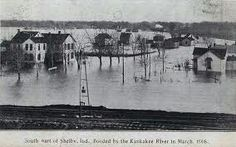 Shelby IN flooded in 1908. before Kankakee was straightened