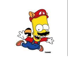 Bart Simpson x Super Mario Bros, The Simpsons