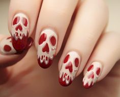 4. Skulls!  Oh man!!! I don't think I could do all my fingers on both hands this way, but at least one per hand...