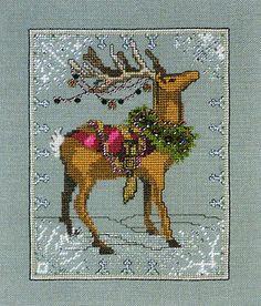 DONNER - Counted Cross Stitch Pattern - one of several patterns for Santas Reindeer