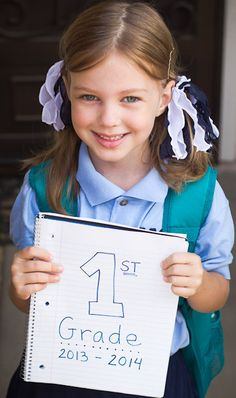 Love the idea of using a Spiral Notebook as a Back to School Photo Prop! Genius!! #backtoschool