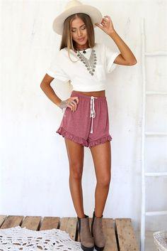 Chic Frill Shorts | SABO SKIRT