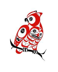 Owl-Print-Nortwest Coast native Art