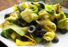 Zucchini Ribbon Pasta with Lemon Tahini Sauce