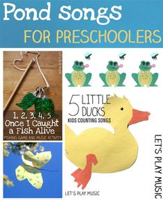 Pond songs for preschoolers with special bonus free printable Rhythm & Percussion game!