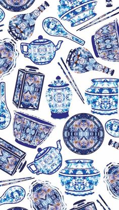 Chinese porcelain on crockery Surface Pattern Design, Porcelain, Chinese, Cards, Atelier, Porcelain Ceramics, Maps, Playing Cards, Tableware