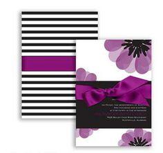 Mod Blooms Wedding Invitation in David's Bridal by Sangria. #davidsbridal #weddinginvitation #purpleweddings