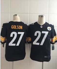 Men s NFL Pittsburgh Steelers  27 Golson Black Elite Jersey 7d4739aed
