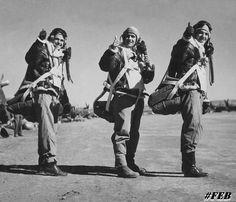 Italy, 1944, Brazilian air force pilots.