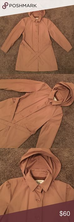 NEW LONDON FOG JACKET Long sleeve with buttons on cuff, polyester and cotton. JACKET has removable hood. Never worn still had plastic around buttons. London Fog Jackets & Coats