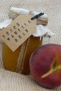 Peach Vanilla Bean Preserves. So doing this!!
