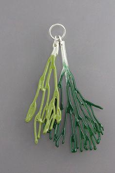 Seaweed Double Brooch, by Sarah Hood