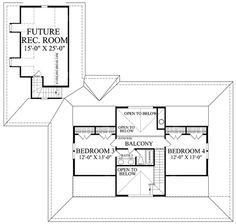 Farmhouse Style House Plan - 4 Beds 3 Baths 2553 Sq/Ft Plan #137-252 Floor Plan - Upper Floor Plan - Houseplans.com