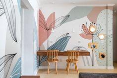 Bedroom Wall Designs, Bedroom Murals, Diy Bedroom Decor, Wall Painting Decor, Wall Decor, Deco Studio, Home Room Design, Home Deco, Interior Design