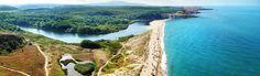 The mouth of Veleka River.It was declared a protected area. Устието на река Велека - защитена местнност.