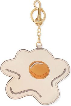 Anya Hindmarch - Egg Leather Keychain - White - one size