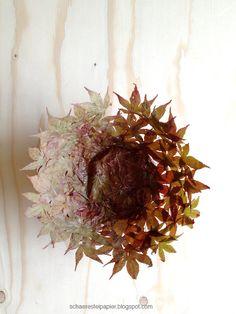 schaeresteipapier: Schale aus Herbstblättern - DIY