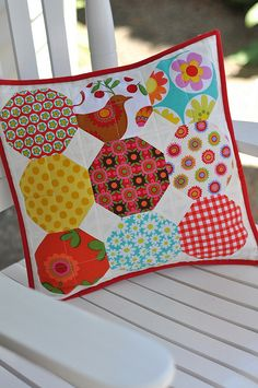 Summery Pillow by Pleasant Home, via Flickr