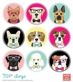 Pet Shop, Animals And Pets, Cute Animals, Puppy Party, Dog Crafts, Dog Illustration, Cartoon Dog, Dog Art, Cute Dogs