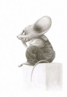 The Fine Art & Illustration of Leonard Filgate Art And Illustration, Animal Illustrations, Illustrations Posters, Animal Drawings, Cute Drawings, Drawing Sketches, Art Fantaisiste, Arte Sketchbook, Cute Mouse