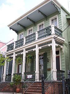 The facade at Garden District Bed and Breakfast -- stayed here when Mom & I went to the Faberge Egg Exhibit in New Orleans. Loved it! Want to go back!