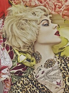 '07 Vogue Italia masterfully mixes blooming florals, psychedelic swirls, and dizzying graphics with sky-high hair and tattooed limbs – creating a trippy, haute couture collage that may cause print-on-print daydreams.