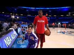 Ellen DeGeneres sends a staffer to the 2012 NBA All-Star Game where she meets NBA stars and a few celebrities.