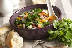 Hearty Kale Bean Soup In No Time Flat - http://www.savingwellspendingless.com/2014/10/29/hearty-kale-bean-soup-time-flat/