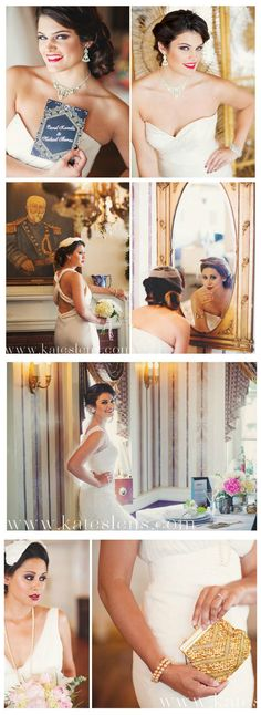 Bridal photo shoot, Great Gatsby inspired! Vintage & Antique Accessories: https://www.facebook.com/maejeanvintage  Photographer: https://www.facebook.com/kateslensphotography