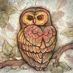 Earth Owl I -  by Janet Stever