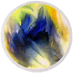Round Beach Towel - Abstract 9649