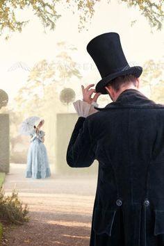 victorian couple meet in the garden BY: lee avison