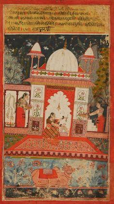 Bhairavi Ragini. Folio Nr. 16 aus einer Ragamala-Serie, Pigmentmalerei auf Papier, Indien, Malwa, 1675-1700 India Painting, Miniature Paintings, Jaisalmer, Museum, Indian Artist, Persian, Taj Mahal, Asia, Miniatures