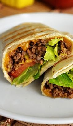 GRILLED CHEESEBURGER WRAPS