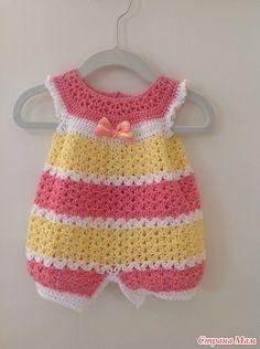 Tejidos a crochet modelo enterizo para el verano con abertura con botones para un mejor manejo del cambio de pañales , muy frescos para el ...