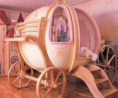 What,only $47,000.00?!  Insane Cinderella Pumpkin Carriage Bed