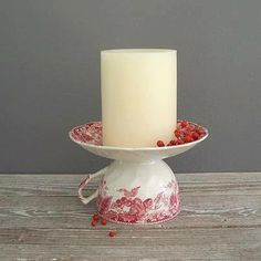 What a wonderful idea to re-purpose one or two of your favorite old tea cups and saucers!  Even a neat idea for a party favor...