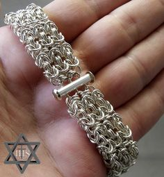 Heavier Argentium Byzantine Cuff Bracelet -- Perfect for a man or woman | Flickr - Photo Sharing!